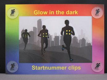Glow in the dark bib clips