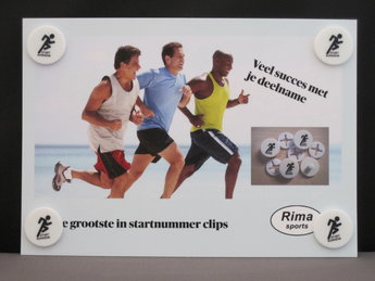 Bib clips satz von 4 Stück auf standard Karte