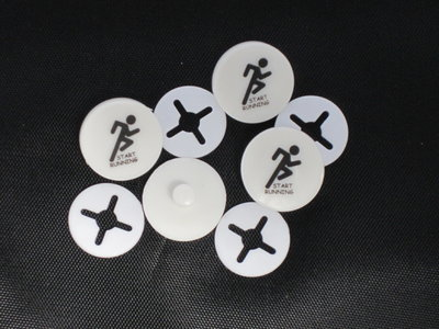 Startnumber clips set of 4 pieces with standard logo